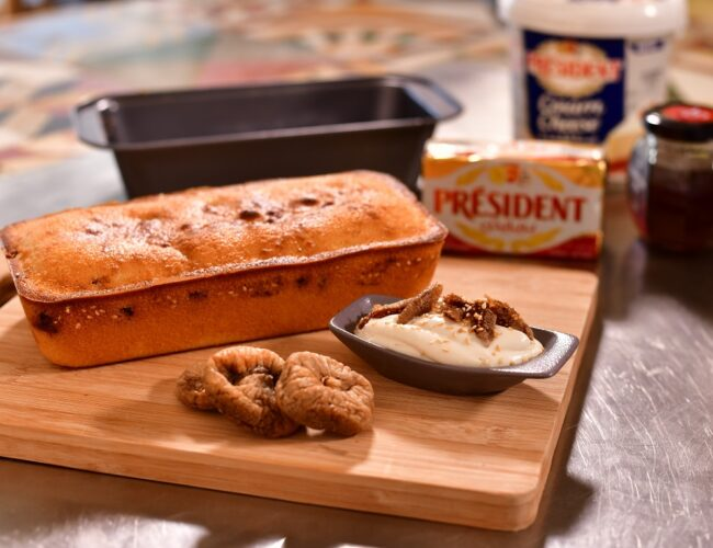 Cake with Cream cheese & Fig featured