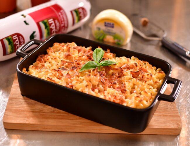 Maccharoni alla mortadella el forno featured